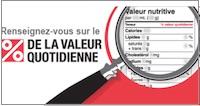 Santé canada étiquetage nutritionnel
